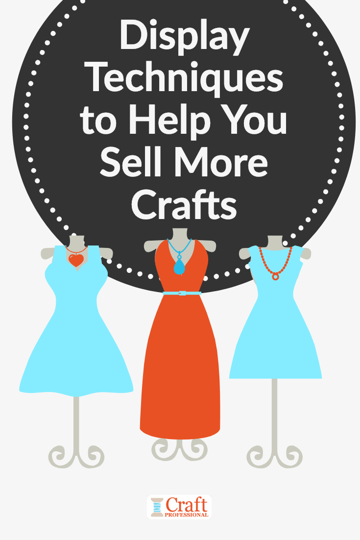 Display Techniques to Help You Sell More Crafts - Three dresses on mannequins show the visual merchandising technique of repetition with odd numbers